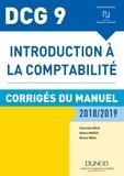 Charlotte Disle et Robert Maéso - Introduction à la comptabilité DCG 9 - Corrigés du manuel.