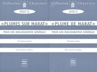 Charlotte Goëtz - Plume de Marat / Plumes sur Marat - Pour une bibliographie générale, 2 volumes.