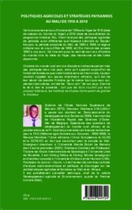 Politiques agricoles et stratégies paysannes au Mali de 1910 à 2010 - Mythes et réalités à lOffice du Niger.pdf