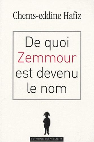 Chems-Eddine Hafiz - De quoi Zemmour est devenu le nom.