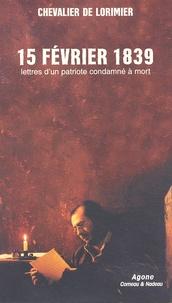 Satt2018.fr 15 février 1839. Lettres d'un patriote condamné à mort Image