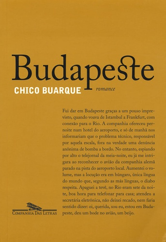 Chico Buarque - Budapeste - Edition en langue portugaise.