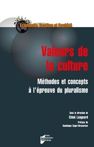 Chloé Langeard - Valeurs de la culture - Méthodes et concepts à l'épreuve du pluralisme.
