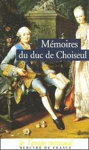 Deedr.fr Mémoires du duc de Choiseul Image