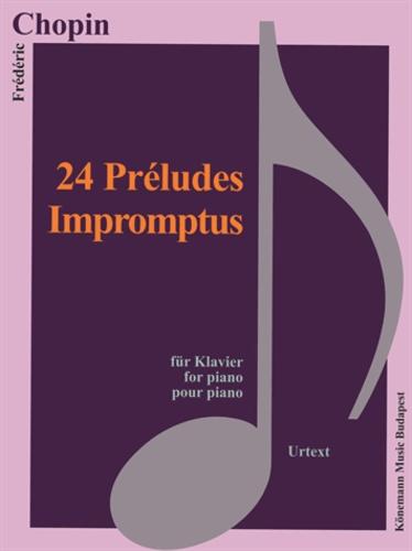 Chopin - Chopin - 24 préludes, impromptus - pour piano - Partition.