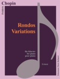 Chopin - Chopin - Rondos variations - pour piano - Partition.