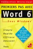 Chouka - Word 6 pour Windows.
