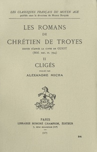 Les romans de Chrétien de Troyes - Tome 2, Cligés.pdf