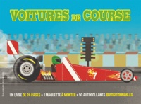 Chris Oxlade et Andrew Crowson - Voitures de course - Coffret livre + maquette à monter + 50 autocollants repositionnables.