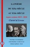 Christ'al Livres - La poésie du XIXe siècle au XXIe siècle.