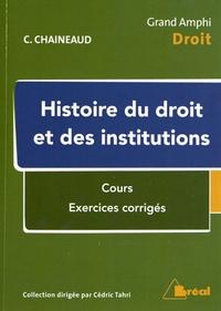 Christel Chaineaud - Histoire du droit et des institutions.
