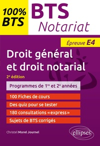Christel Morel Journel - Droit général et droit notarial BTS notariat épreuve E4.
