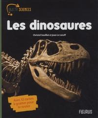 Christel Souillat et Jean Le Loeuff - Les dinosaures - Avec 12 cartes à gratter pour te tester.