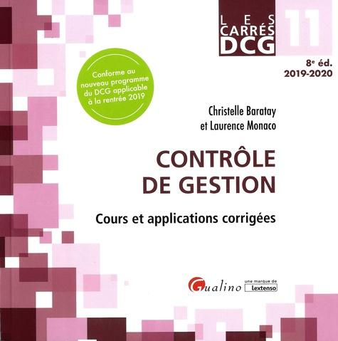 Contrôle de gestion DCG 11. Cours et applications corrigées  Edition 2019-2020