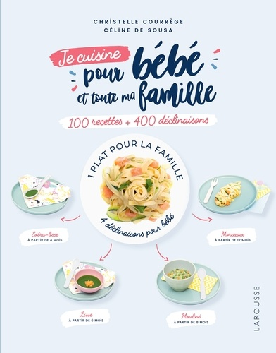 100 recettes pour bébé et toute la famille - Christelle Courrege, Céline de Sousa - 9782035966643 - 8,99 €