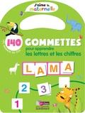 Christelle Deliot - 140 gommettes pour apprendre les lettres et les chiffres - Les animaux du zoo.
