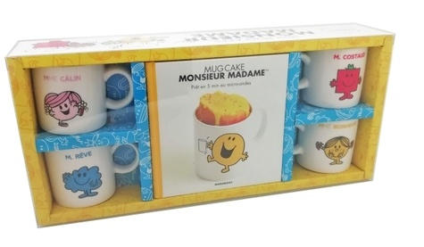 Christelle Huet-Gomez et Lene Knudsen - Mini mugcakes Monsieur Madame - Coffret avec 4 mini mugs collector.
