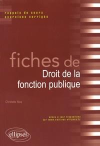 Checkpointfrance.fr Fiches de Droit de la fonction publique - Rappels de cours et exercices corrigés Image