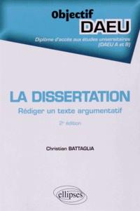 La dissertation- Rédiger un texte argumentatif - Christian Battaglia | Showmesound.org