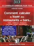Christian Bonnin - Comment calculer le loyer des restaurants et bars.