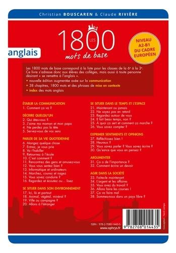Christian Bouscaren et Claude Rivière - Les 1800 mots de base anglais - Niveau A2-B1.
