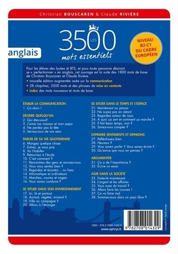 Christian Bouscaren et Claude Rivière - Les 3500 mots essentiels anglais - Niveau B2-C1.