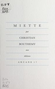 Christian Bouthemy - Miette.