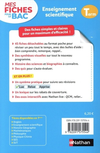 Enseignement scientifique Tle  Edition 2020