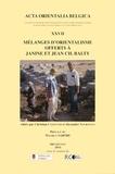 Christian Cannuyer et Alexandre Tourovets - Mélanges d'orientalisme offerts à Janine et à Jean Ch. Balty.