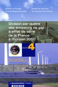 Christian de Boissieu - Division par quatre des émissions de gaz à serre de la France à l'horizon 2050.