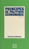 Christian de Boissieu - Principes de politique économique.