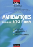 Christian Gautier et André Warusfel - Mathématiques Tout-en-un BCPST 1e année - Cours et exercices corrigés.