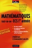 Christian Gautier et André Warusfel - Mathématiques tout-en-un ECS 1e année - Cours et exercices corrigés prépas commerciales.