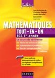 Christian Gautier et André Warusfel - Mathématiques Tout-en-un, ECS 1re année - Cours et exercices corrigés.