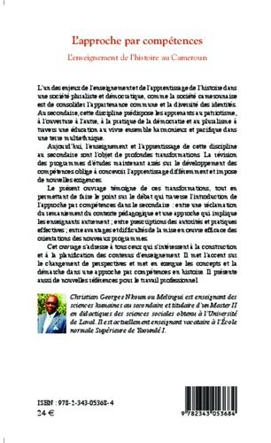 L'approche par compétences. L'enseignement de l'histoire au Cameroun