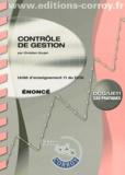 Christian Goujet - Contrôle de gestion UE 11 du DCG - Enoncé.