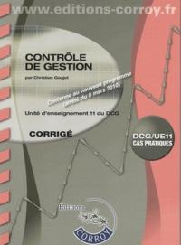 Christian Goujet - Contrôle de gestion UE11 du DCG - Corrigé.