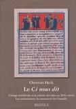 Christian Heck - Le Ci nous dit - L'image médiévale et la culture des Laïcs au XIVe siècle : les enluminures du manuscrit de Chantilly.