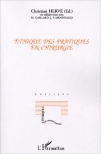 Christian Hervé - Ethique des pratiques en chirurgie.