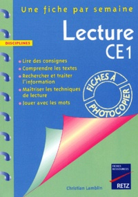 Christian Lamblin - Lecture CE1.