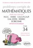 Christian Leboeuf - Problèmes corrigés de mathématiques posés aux concours HEC, ESSEC, ESCP-Europe, EM Lyon, EDHEC, ECRICOME option économique.