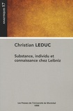 Christian Leduc - Substance, individu et connaissance chez Leibniz.