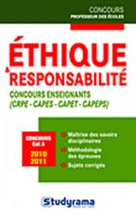 Christian Martinez - Ethique et responsabilité - Concours enseignants.
