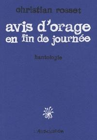 Christian Rosset - Avis d'orage en fin de journée - Hantologie.