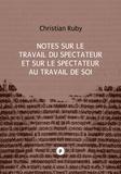Christian Ruby - Notes sur le travail du spectateur et sur le spectateur au travail de soi - enjeu politique d'une approche du spectateur dans la représentation.