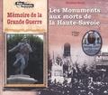 Christian Sorrel - Les monuments aux morts de la Haute-Savoie - Mémoire de la Grande Guerre.