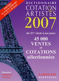 Dictionnaire Cotation des artistes 2007 - Christian Sorriano | Showmesound.org