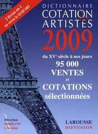 Christian Sorriano - Dictionnaire cotation des artistes 2009.