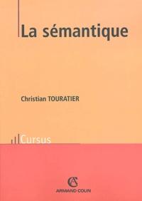 Christian Touratier - La sémantique.