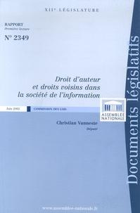 Christian Vanneste - Droit d'auteur et droits voisins dans la société de l'information.